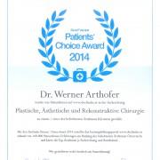 Auszeichnung für Dr. Werner Arthofer